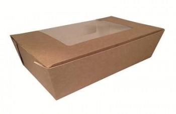 BOX MENÚ  CON VENTANA EN KRAFT NATURAL