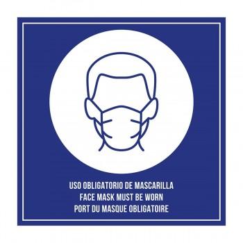 PLACA DE METACRILATO AUTOADHESIVA - \cUSO OBLIGATORIO MASCARILLA\c
