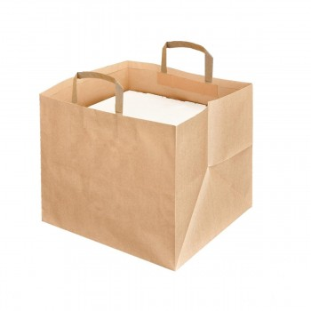 BOLSA KRAFT PARA CATERING CON ACABADO NATURAL