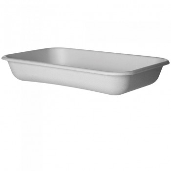 BARQUITA BLANCA GAMA BAGASSE by ECOPRODUCTS