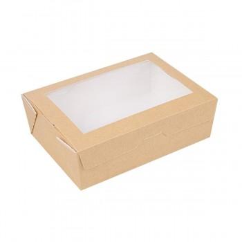 BOX RECTANGULAR  ESTANCO KRAFT CON VENTANA THEPACK - 120x170x55 MM (200 unidades)