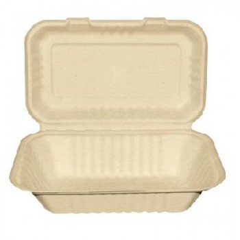 1.000 ML - BOX PARA MENÚ BAGASSE NATURAL