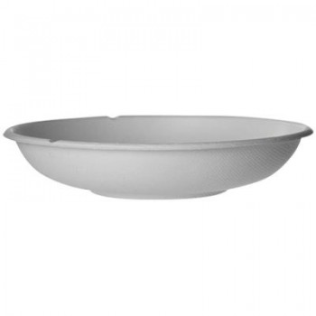 BANDEJA BLANCA OVALADA GAMA BAGASSE by ECOPRODUCTS - FORMATO COUPE