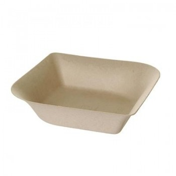 BOWL BAGASSE DAHLIA by ECOPRODUCTS ACABADO NATURAL GAMA BAGASSE - 142x142 MM