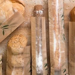Bolsas panadería de papel y celulosa